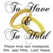 Marriage Vows Art Print