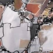 Marron Mapa Art Print