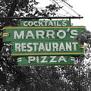 Marro's Restaurant Art Print