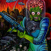 Mars Attacks 2 Art Print