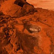 Mars Landscape Art Print
