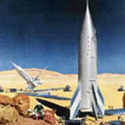 Mars Mission, 1950s Art Print