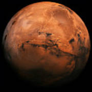 Mars The Red Planet Art Print