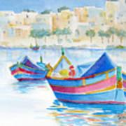 Marsaxlokk Bay Art Print
