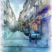 Marseille Back Street Art Print