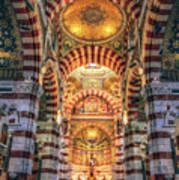 Marseille, France, Inside Of Notre-dame De La Garde Catholic Basilica Art Print