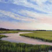 Marsh Blush Art Print