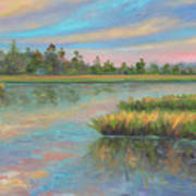 Marsh Glow in the Low Country Art Print