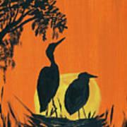 Marsh Nest Art Print