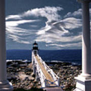 Marshall Point Lighthouse Maine Art Print by Skip Willits