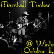 Marshall Tucker Winterland 1975 #3 Crop 2 With Text Art Print