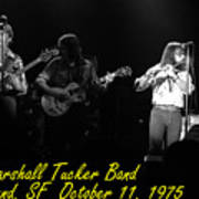 Marshall Tucker Winterland 1975 #37 Crop 2 With Text Art Print