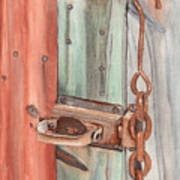 Marsha's Lock Art Print
