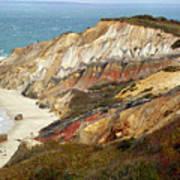 Marthas Vinyard Ocean Cliff Art Print