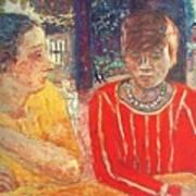 marthe in red blouse c1928 Pierre Bonnard Art Print