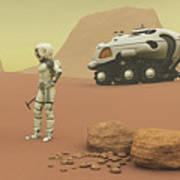 Martian Exploration Art Print