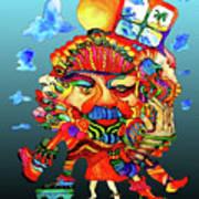 Martin-hardy-hula-girl1 Art Print