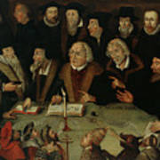 Martin Luther In The Circle Of Reformers Art Print