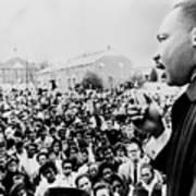 Martin Luther King Addresses Selma Art Print by Everett