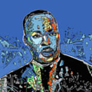 Martin Luther King Color Art Print