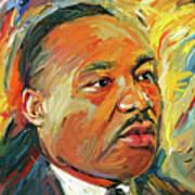Martin Luther King Portrait 1 Art Print