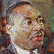 Martin Luther King Portrait Mosaic 1 Art Print
