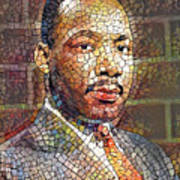 Martin Luther King Portrait Mosaic 2 Art Print