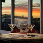 Martini At Sunset Art Print