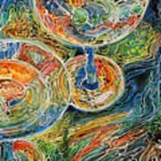Martini Bar A Fine Art Batik By M Baldwin Art Print