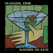 Martini Time - Within Reach Art Print