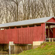 Martinsville Covered Bridge Art Print