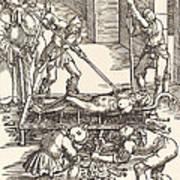 Martyrdom Of Saint Lawrence Art Print