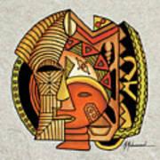 Maruvian Masks 1 Art Print