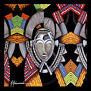Maruvian Silver Mask Art Print