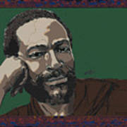 Marvin Gaye  Art Print by Suzanne Gee