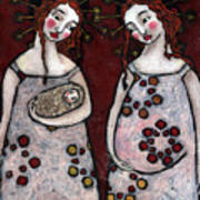 Mary And Elizabeth 2 Art Print