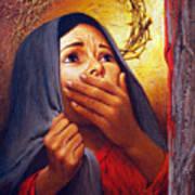 Mary At The Cross - Lgmrc Art Print