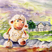 Mary The Scottish Sheep Art Print
