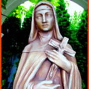 Mary With Cross Art Print