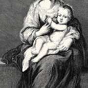 Mary With The Child Jesus Art Print