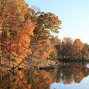Maryland Autumns - Clopper Lake - Kingfisher Overlook Art Print