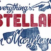 Maryland Poster - Funny Stellar Art Print