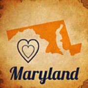 Maryland Vintage Art Print