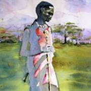 Masaai Boy Art Print