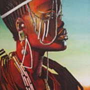 Masai Art Print