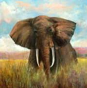Masai King Art Print