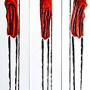 Masai Warrior Triptych - Original Artwork Art Print