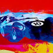 Maserati On The Race Track 1 Art Print