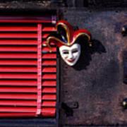 Mask By Window Art Print