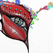 Mask Elegance Art Print